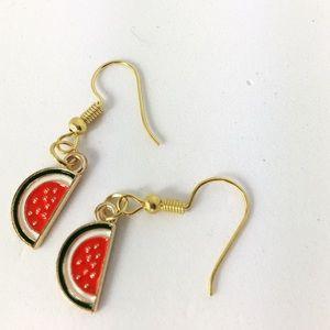 3/$15 Gold Tone Watermelon Earrings